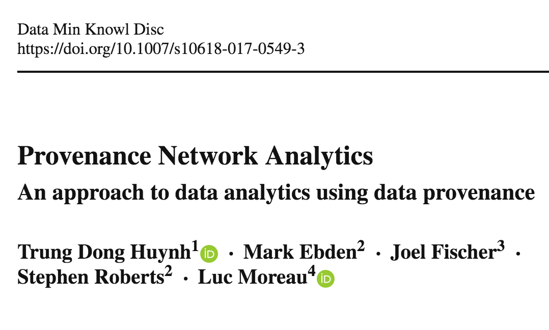 Provenance Network Analytics paper - PDF version